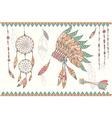Native american dream catcher headdress vector image