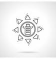 Saving energy flat line icon Solar battery vector image