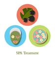 SPA treatment Icons Set vector image
