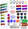 sticker and bubble for your design vector image