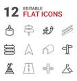 12 way icons vector image vector image