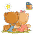 a pair of teddy bears vector image vector image