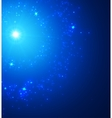 Abstract Background with Falling Star and vector image vector image