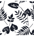 abstract botanical seamless pattern herbal vector image vector image
