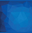 abstract triangle background in deep blue tones vector image vector image