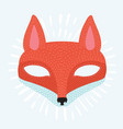 animal mask flat icon vector image
