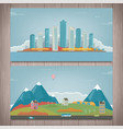 autumn city landscape and suburban landscape vector image