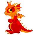 Baby dragon vector image vector image
