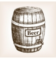 Barrel of beer sketch style vector image