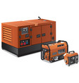 big and small power generators vector image vector image