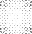 Black and white square pattern vector image vector image