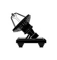 black satellite dish vector image vector image