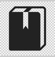 book library icon in flat style education symbol vector image