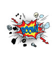 boom comic pop art bubble vector image