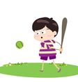 boy baseball player vector image
