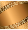 brown background with central frame vector image vector image