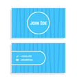 business card with blue stripes vector image