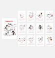 calendar dogs sketches vector image vector image
