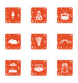 children occasion icons set grunge style vector image