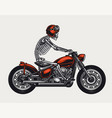 colorful motorcycle vintage concept vector image vector image