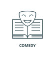 comedy line icon comedy outline sign vector image vector image