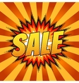 Comic sale background vector image