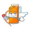 cupid package juice character cartoon vector image vector image
