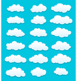 cute cartoon white clouds vector image vector image