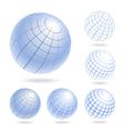 design elements light blue globes vector image