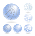 Design elements of light blue globes vector