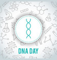 dna day april 25 vector image vector image