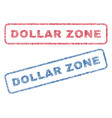 dollar zone textile stamps vector image vector image