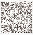 english breakfast lettering with decorative vector image vector image