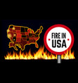 fire in usa infographic map vector image