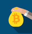 flat modern design concept of bitcoin vector image