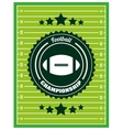 football championship design vector image