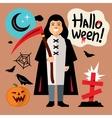 Halloween Death Cartoon vector image vector image