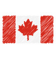 hand drawn national flag of canada isolated on a vector image