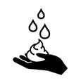 hand washing icon hygiene symbol on white vector image vector image