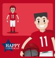 happy labor day card vector image vector image