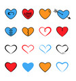 heart flat and line icon trendy bright modern vector image