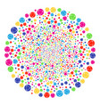 internet festive round cluster vector image vector image