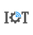 iot internet of things symbol for ui and vector image vector image