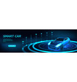 isometric smart car banner