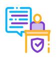 judgement document law icon vector image