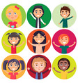 kids of various ethnic groups isolated vector image vector image