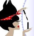 lady and mascara vector image vector image