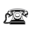 logo silhouette old home phone with a dial vector image
