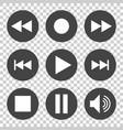 media symbol flat vector image