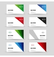 Modern business card template set vector image vector image